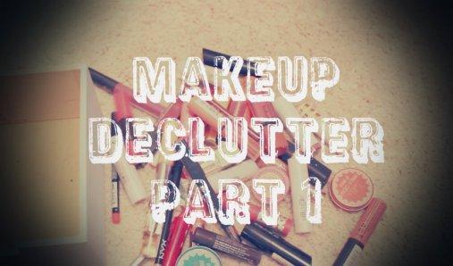 makeup declutter part 1